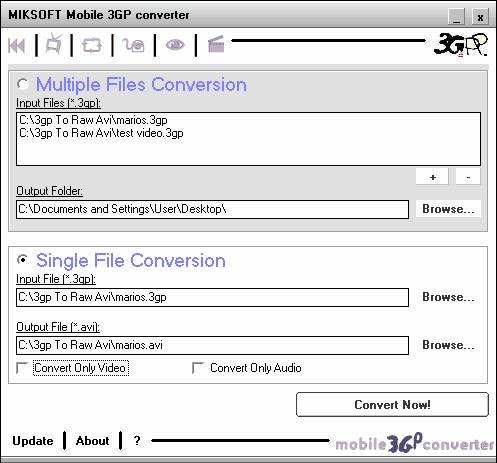 Screenshot af Mobile 3GP Converter