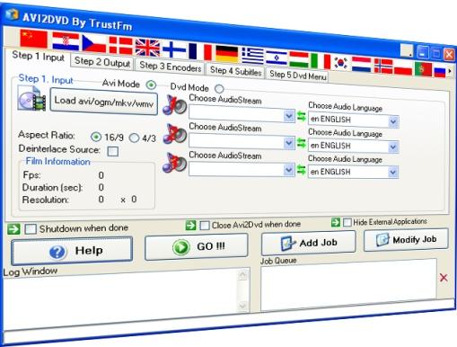 Screenshot af Avi2Dvd