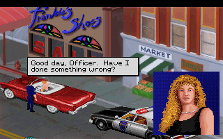 Screenshot af Police Quest - In Pursuit of the Death Angel (VGA Remake)