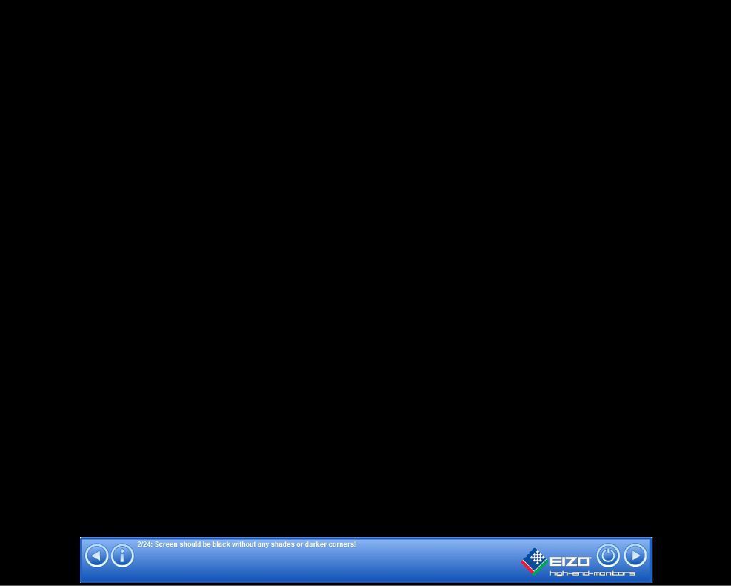 Screenshot af Eizo test