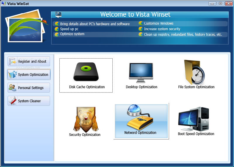 Screenshot af Windows Winset