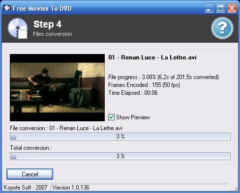Screenshot af Free Videos To DVD