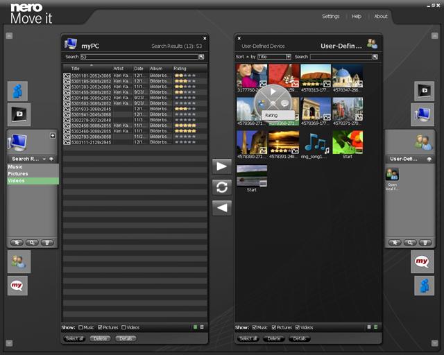 Screenshot af Nero Move it