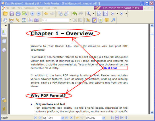 Screenshot af Foxit Reader
