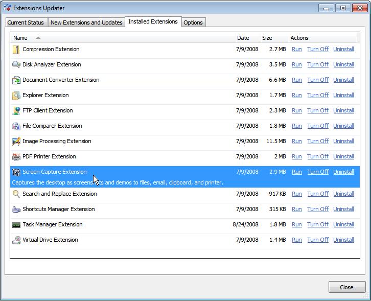 Screenshot af Free Disk Analyzer