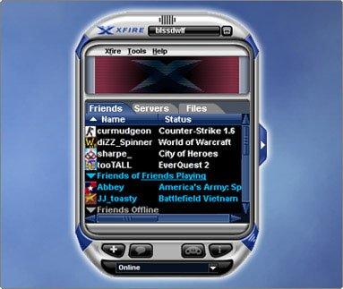 Screenshot af Xfire