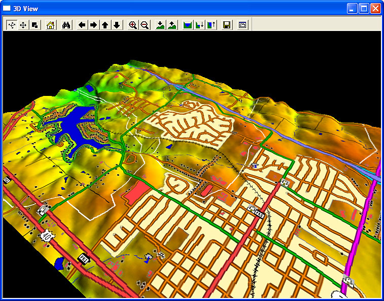 Screenshot af Global Mapper