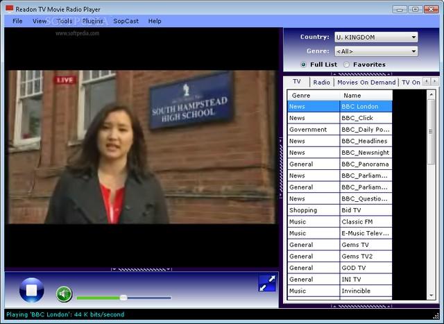 Screenshot von Readon TV Movie Radio Player