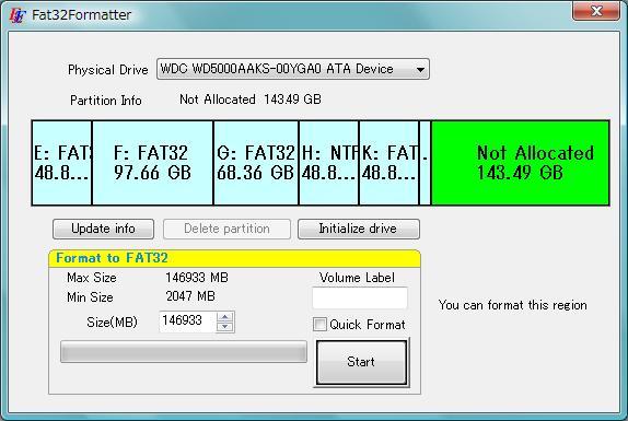 Screenshot af Fat32Formatter