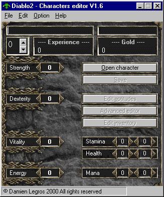 Screenshot af Diablo 2 Character Editor