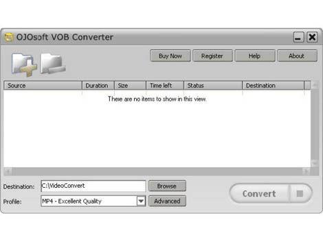 Screenshot af OJOsoft VOB Converter