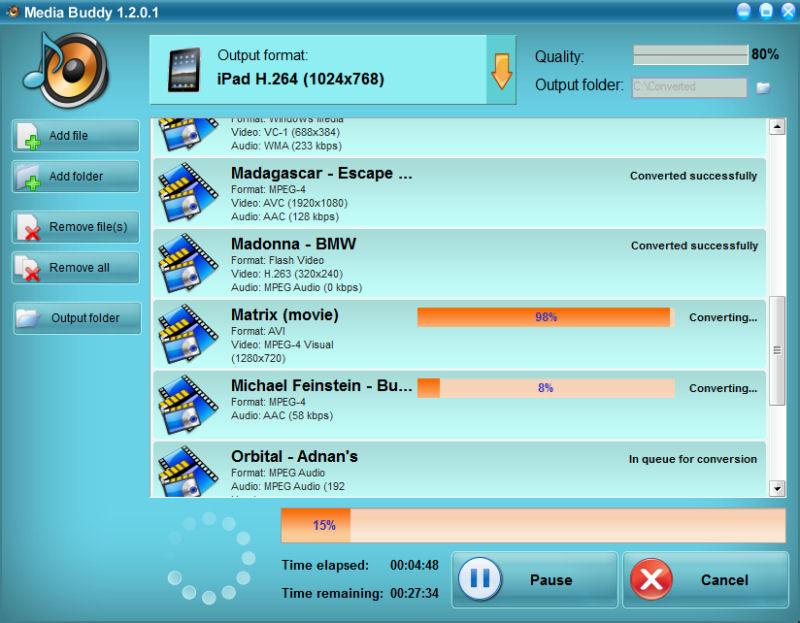 Screenshot af SoundTaxi Media Buddy
