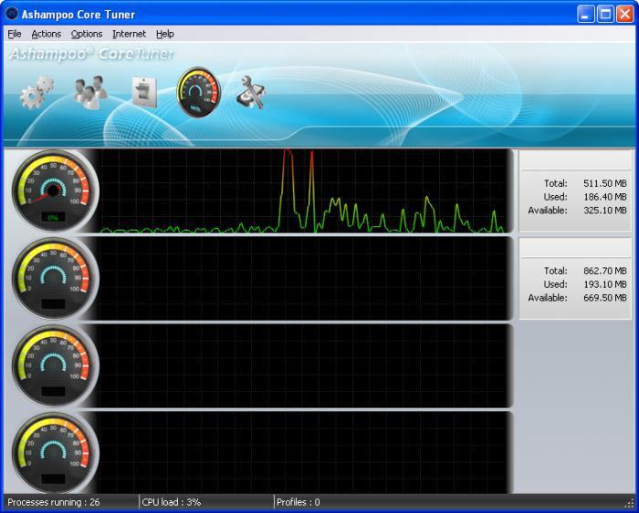 Screenshot af Ashampoo Core Tuner