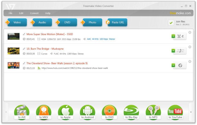 Screenshot af Freemake Video Converter