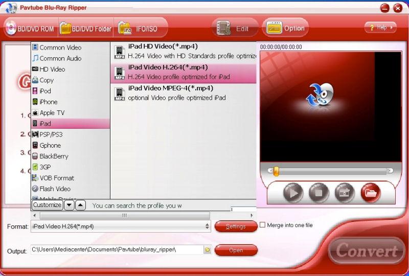 Screenshot af Pavtube  Blu-Ray Ripper