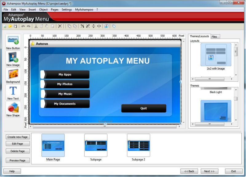 Screenshot af Ashampoo MyAutoplay Menu