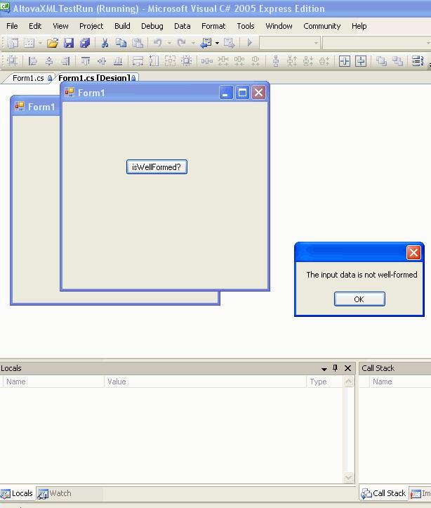 Screenshot af AltovaXML