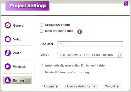 Screenshot af DVD Video Maker Limited Version