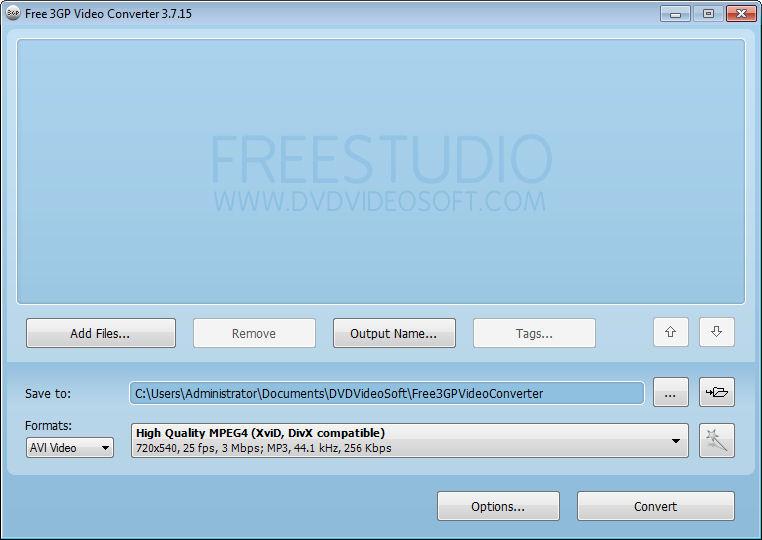 Screenshot af Free 3GP Video Converter