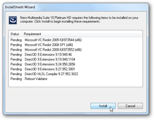 Screenshot af Nero Multimedia Suite Platinum HD