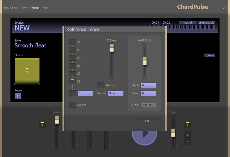 Screenshot af ChordPulse Lite