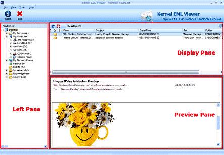 Screenshot af EML Viewer