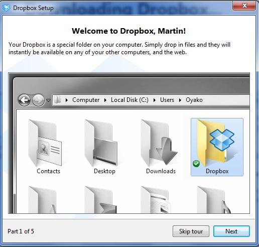 Screenshot af Dropbox für Mac