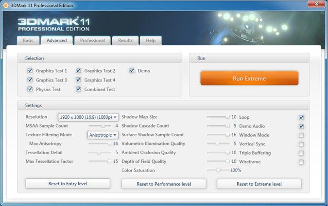Screenshot af 3DMark