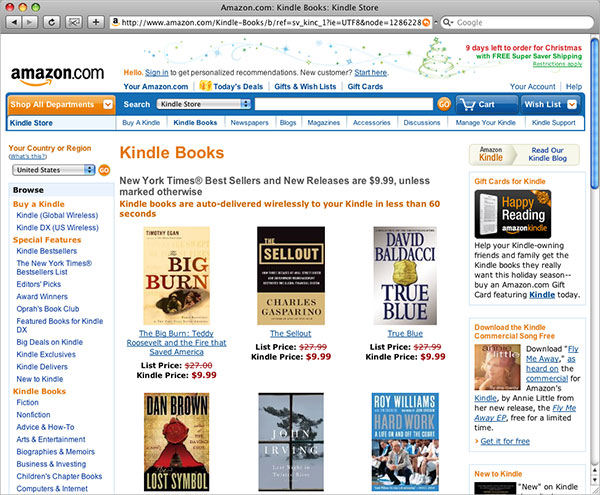 Screenshot af Kindle für Mac
