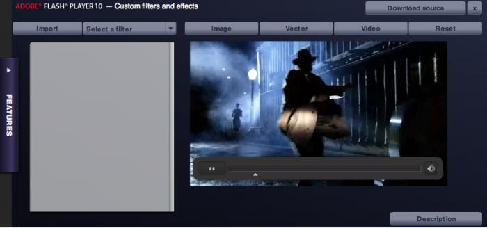 Screenshot af Adobe Flash Player für Mac
