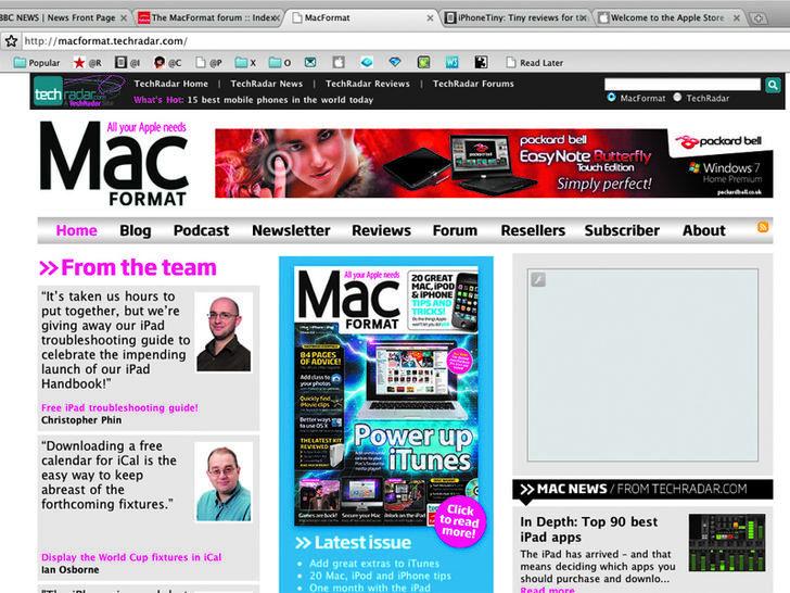 Screenshot von Google Chrome für Mac
