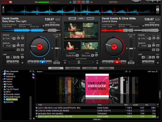 Screenshot af Virtual DJ Free for Mac