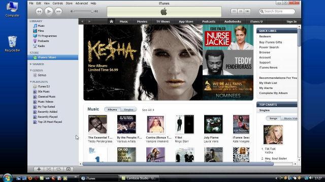 Screenshot af Apple iTunes for Mac