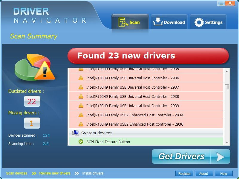 Screenshot von Driver Navigator