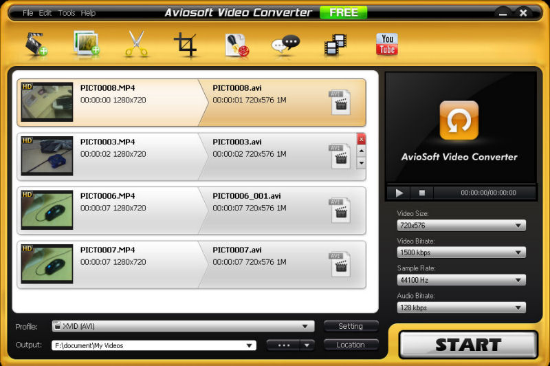 Screenshot af Aviosoft Video Converter Ultimate