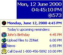Screenshot af DS Clock