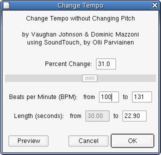 Screenshot af Audacity für Mac