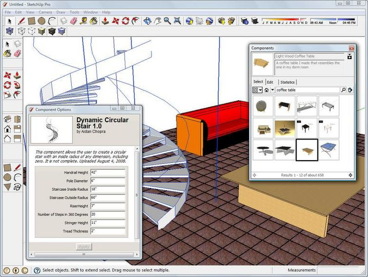 Screenshot af Google SketchUp für Mac