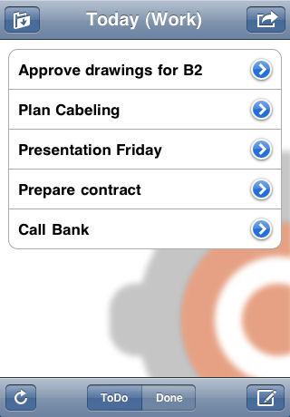 Screenshot af ccToDo til Mac