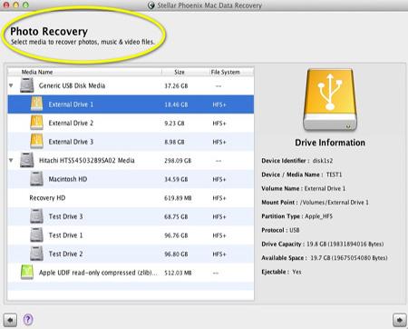Screenshot af Stellar Phoenix Mac Data Recovery