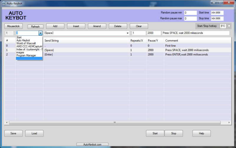 Screenshot af Auto Keybot