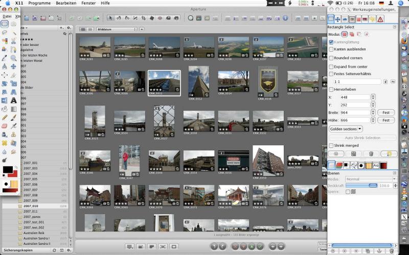 Screenshot af GIMP für Mac