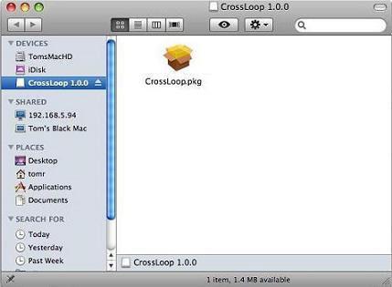Screenshot af CrossLoop til Mac
