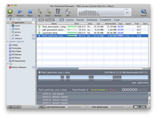 Screenshot af Folx til Mac