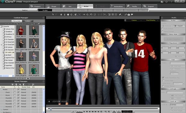 Screenshot af iClone