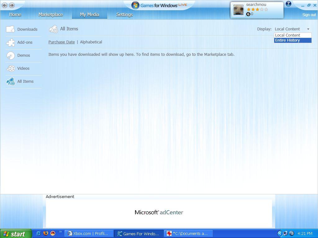 Screenshot af Microsoft spil til Windows