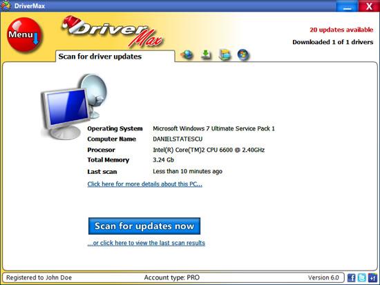 Screenshot von DriverMax