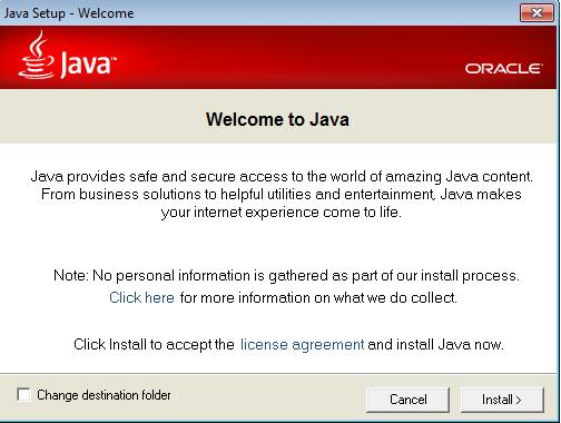 Screenshot af Java für Mac