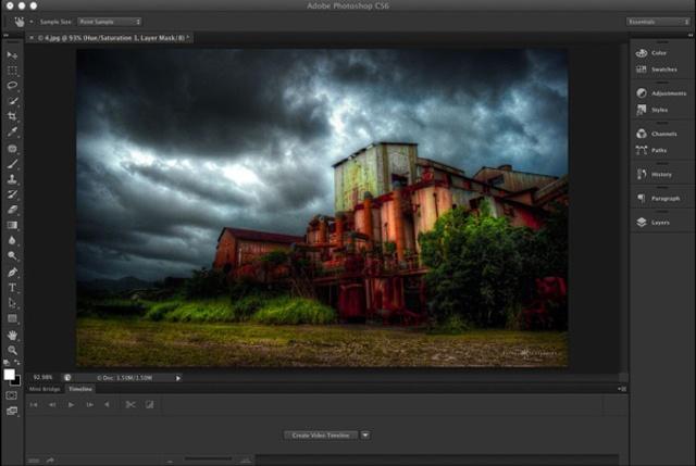 Screenshot von Adobe Photoshop fur Mac