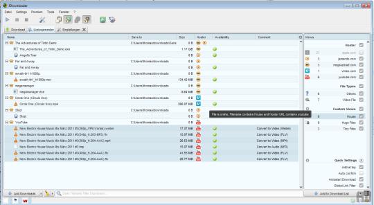 Screenshot af JDownloader til Mac